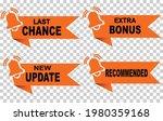 extra bonus sticker last chance ...   Shutterstock .eps vector #1980359168