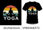yoga vector tshirt design...   Shutterstock .eps vector #1980368372