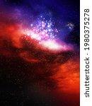 Space Background With Nebula...