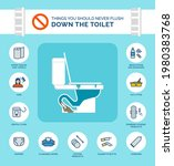 things you should never flush... | Shutterstock .eps vector #1980383768