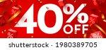 40 percent off. discount... | Shutterstock .eps vector #1980389705