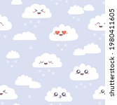 seamless pattern with cute... | Shutterstock .eps vector #1980411605