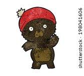cute cartoon black bear   Shutterstock .eps vector #198041606