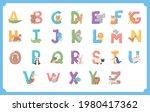 animals english alphabet...   Shutterstock .eps vector #1980417362