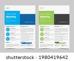town hall meeting flyer...   Shutterstock .eps vector #1980419642