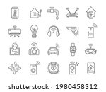 iot line icons. internet of... | Shutterstock .eps vector #1980458312