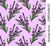 lavender seamless pattern.... | Shutterstock .eps vector #1980468692