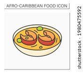 afro caribbean food color icon. ... | Shutterstock .eps vector #1980475592