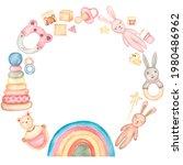 Baby Toys Wreath Clipart ...