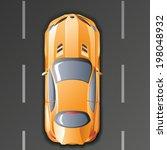 vector  super sports car | Shutterstock .eps vector #198048932