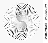 abstract halftone spiral dotted ... | Shutterstock .eps vector #1980502295