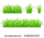 green grass. | Shutterstock .eps vector #198050555