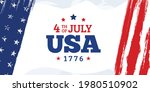 4th of july  usa sale lettering ... | Shutterstock .eps vector #1980510902