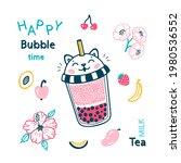 Bubble Tea Vector Menu Poster....