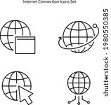 internet icons isolated on...