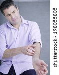 itching in a man   Shutterstock . vector #198055805