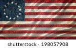 grunge betsy ross flag | Shutterstock . vector #198057908