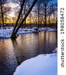 Winter View Of A Creek At...