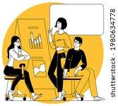 office scene. men and women... | Shutterstock .eps vector #1980634778