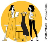 fashion clothing store owner...   Shutterstock .eps vector #1980634808