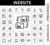 website icon set. line icon...