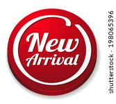 Red Round New Arrival Button O...