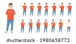 young man in casual clothes...   Shutterstock .eps vector #1980658772