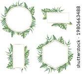 spring floral frame. flower...   Shutterstock .eps vector #1980663488