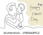 father and his son continuous... | Shutterstock .eps vector #1980668912