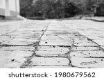 Monochrome Photo Old Sidewalk...