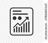 transparent profit record icon...