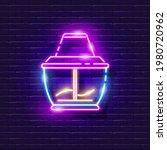 blender neon sign. glowing...   Shutterstock .eps vector #1980720962