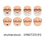 faces icons. old man character...   Shutterstock .eps vector #1980725192