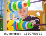 nine month old baby boy in the... | Shutterstock . vector #1980750932