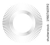 concentric circles . dots in... | Shutterstock .eps vector #1980760592