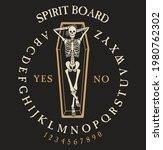 spirit board ouija with...   Shutterstock .eps vector #1980762302