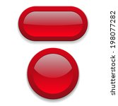 two glossy red button on white... | Shutterstock .eps vector #198077282