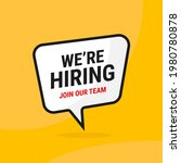 we are hiring join our team...   Shutterstock .eps vector #1980780878