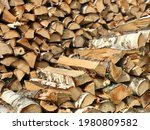 Birch Firewood Prepared For The ...