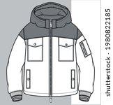 zipper sweatshirt design... | Shutterstock .eps vector #1980822185