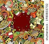 cartoon vector doodles italian... | Shutterstock .eps vector #1980833732