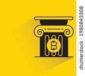 bitcoin symbol in pillar with... | Shutterstock .eps vector #1980843308
