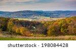 view of rolling hills in rural... | Shutterstock . vector #198084428