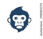 Head Monkey Vector Illustration....