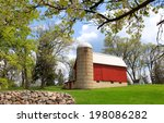 Red Barn In The Spring Time