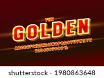 gold font set collection ... | Shutterstock .eps vector #1980863648