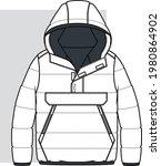 coat  fashion flat sketch.... | Shutterstock .eps vector #1980864902
