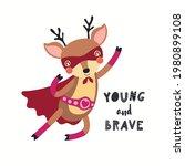 cute funny deer superhero in...   Shutterstock .eps vector #1980899108