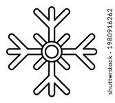 vector snowy outline icon... | Shutterstock .eps vector #1980916262
