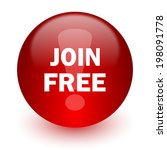 join free red computer icon on... | Shutterstock . vector #198091778